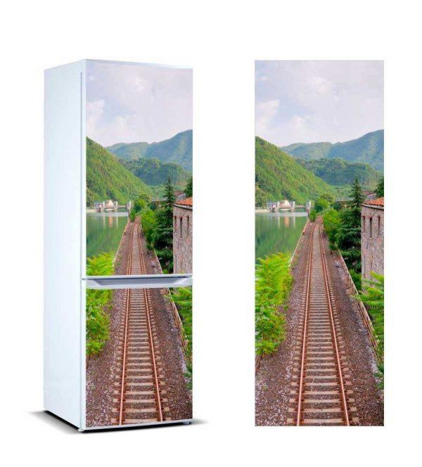 Vinilo Frigorífico Vía del Tren | Carteles XXL - Impresión carteleria publicitaria
