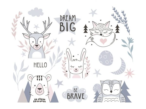 Vinilo Infantil Animales Big Dream | Carteles XXL - Impresión carteleria publicitaria