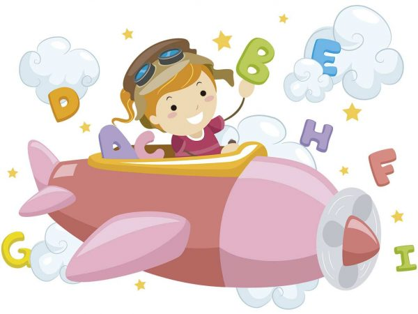 Vinilo Infantil Chico Avioneta | Carteles XXL - Impresión carteleria publicitaria