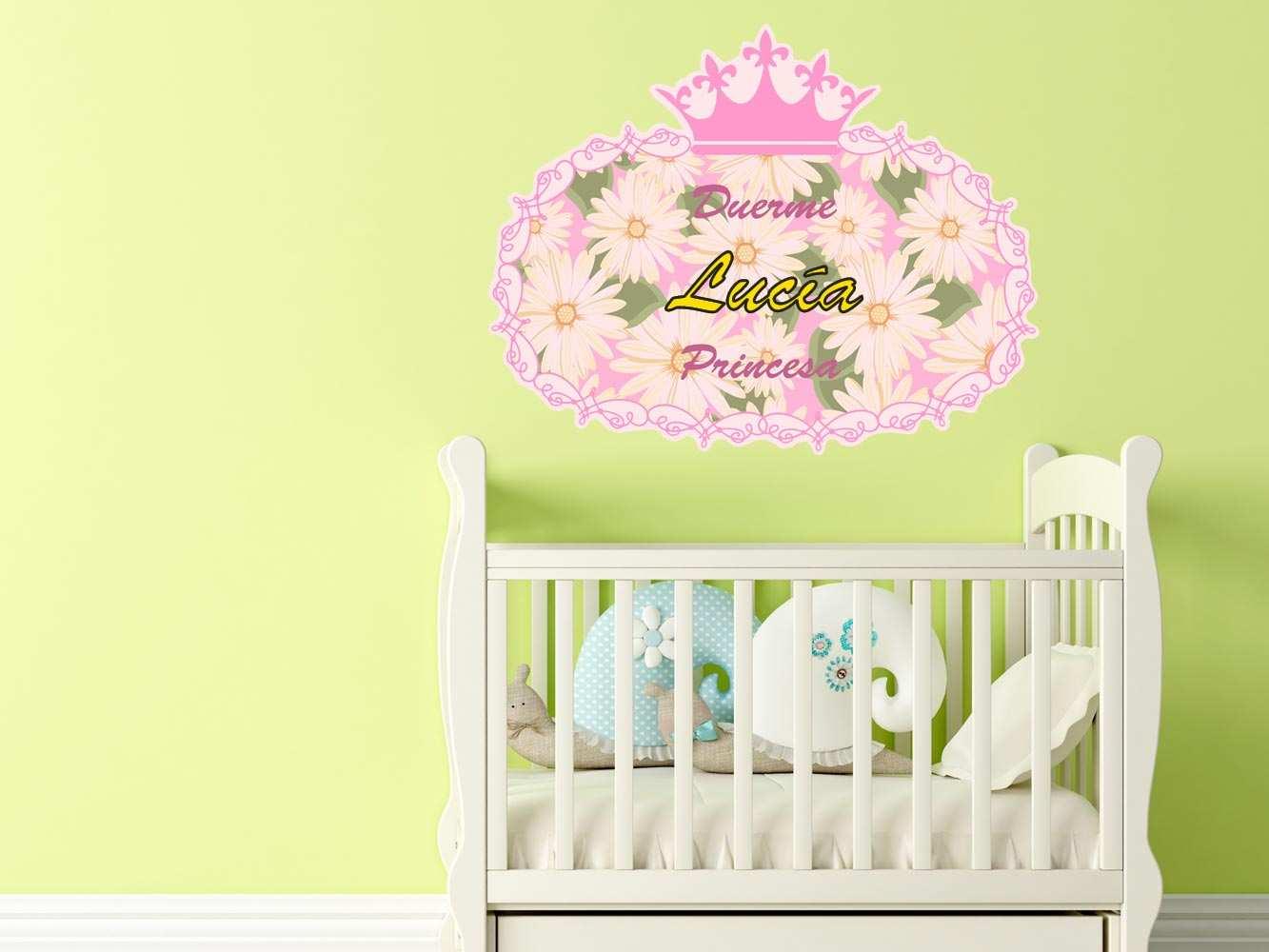 Vinilo Infantil Duerme Princesa Personalizado | Carteles XXL - Impresión carteleria publicitaria
