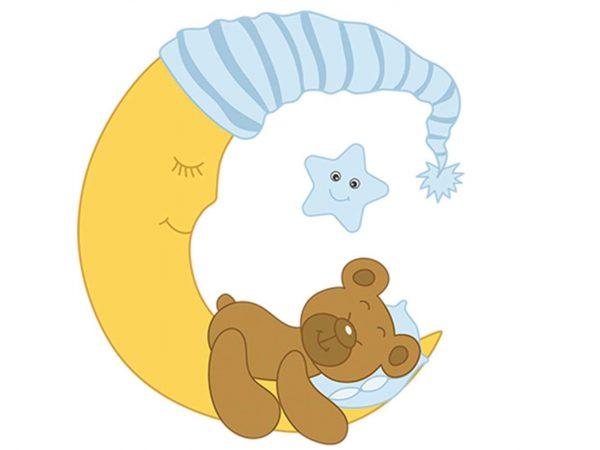 Vinilo Infantil Dulces Sueños Osito Azul | Carteles XXL - Impresión carteleria publicitaria