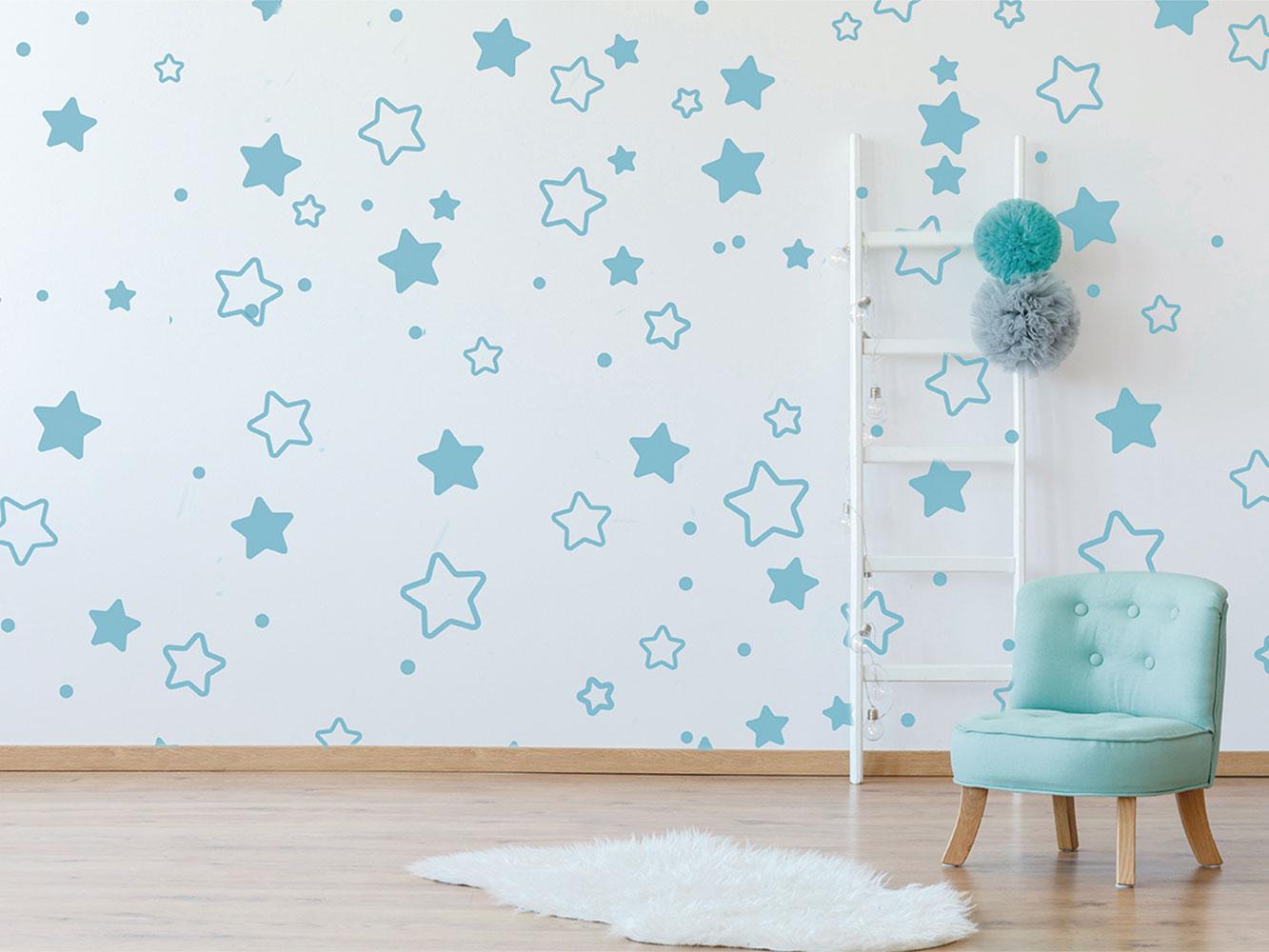 Vinilo Infantil Estrellas Azules | Carteles XXL - Impresión carteleria publicitaria
