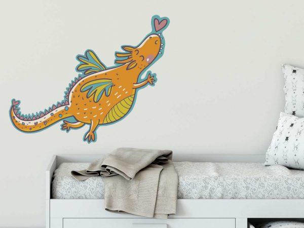 Vinilo Infantil Fantasía Dragón Corazón | Carteles XXL - Impresión carteleria publicitaria
