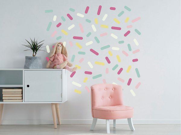 Vinilo Infantil Grageas Multicolor | Carteles XXL - Impresión carteleria publicitaria