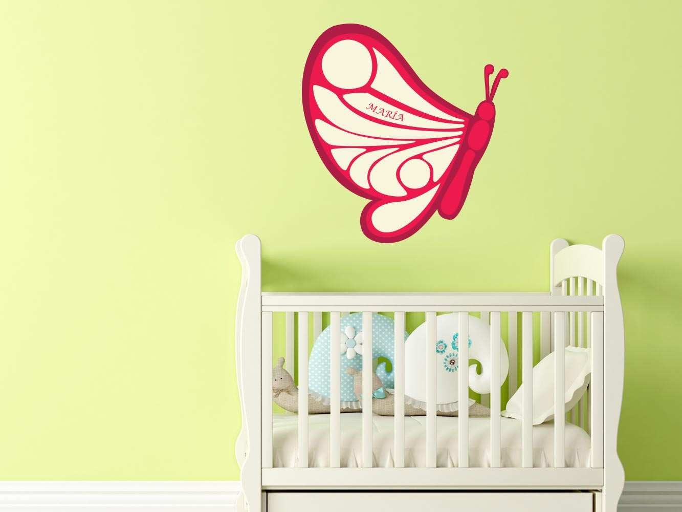 Vinilo Infantil Mariposa Roja Personalizado | Carteles XXL - Impresión carteleria publicitaria