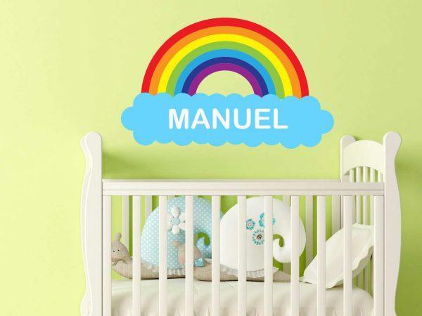 Vinilo Infantil Nube Arco iris Personalizado | Carteles XXL - Impresión carteleria publicitaria