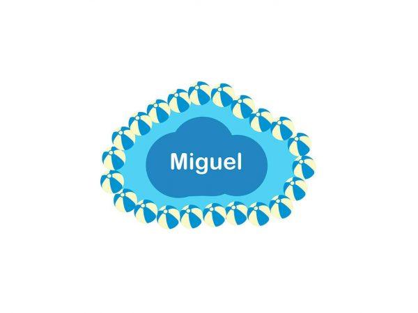 Vinilo Infantil Nube Balones Playa Personalizado | Carteles XXL - Impresión carteleria publicitaria