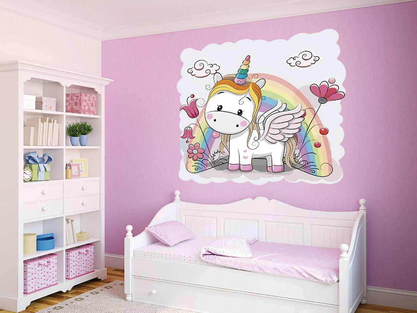 Vinilo Infantil Unicornio Arcoiris | Carteles XXL - Impresión carteleria publicitaria