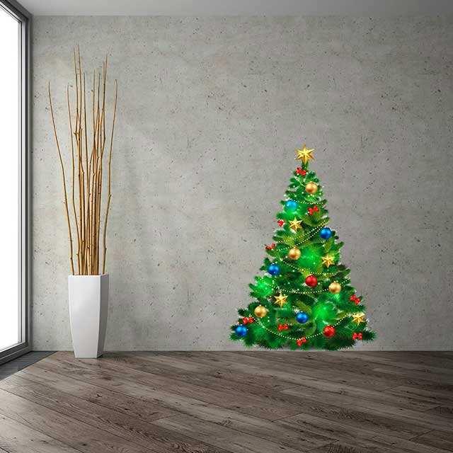Vinilo Navidad Arbol | Carteles XXL - Impresión carteleria publicitaria