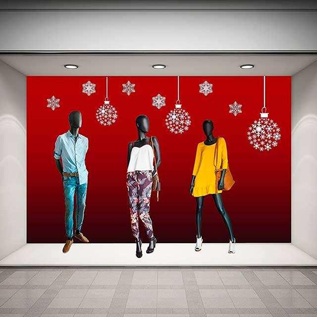 Vinilo Navidad Bolas Nieve | Carteles XXL - Impresión carteleria publicitaria