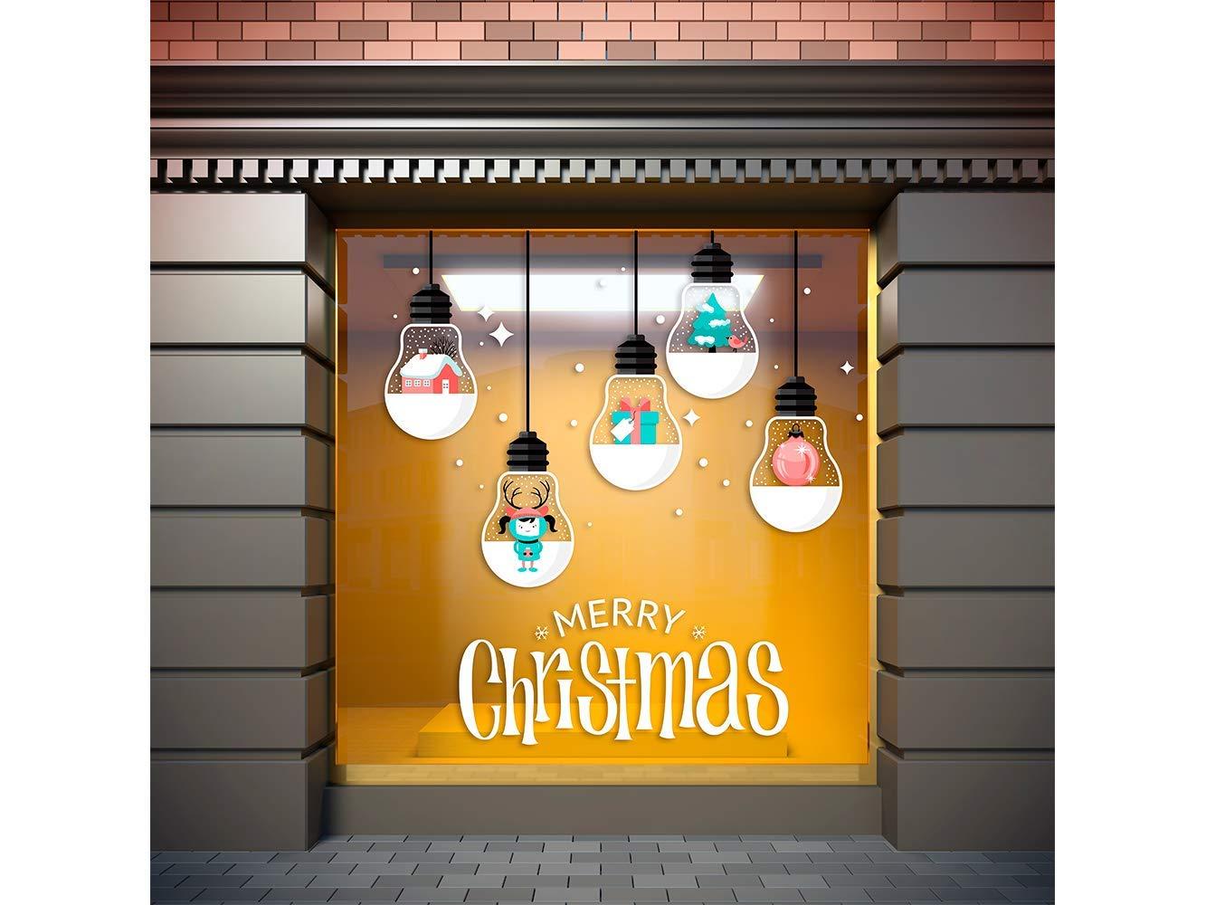 Vinilo Navidad Bombillas Merry Christmas | Carteles XXL - Impresión carteleria publicitaria