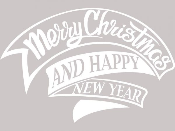 Vinilo Navidad Etiqueta Merry Christmas | Carteles XXL - Impresión carteleria publicitaria