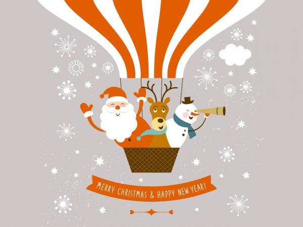 Vinilo Navidad Globo Aeroestático | Carteles XXL - Impresión carteleria publicitaria