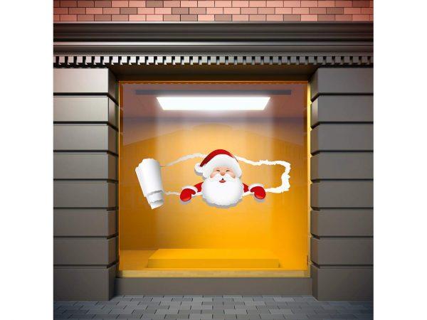 Vinilo Navidad Papá Noel Grieta | Carteles XXL - Impresión carteleria publicitaria