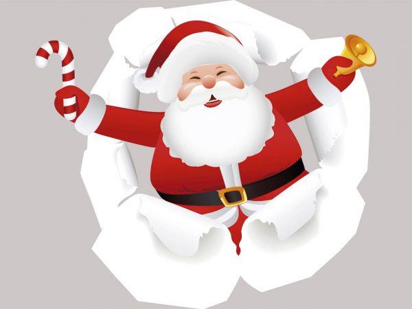 Vinilo Navidad Papá Noel Sorpresa | Carteles XXL - Impresión carteleria publicitaria