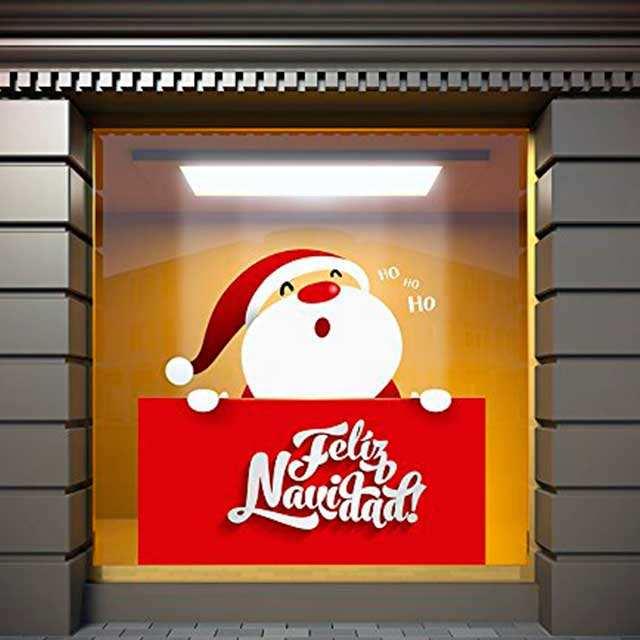 Vinilo Navidad Papa Noel | Carteles XXL - Impresión carteleria publicitaria