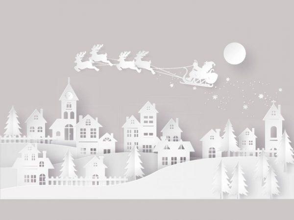 Vinilo Navidad Pueblo Nevado | Carteles XXL - Impresión carteleria publicitaria
