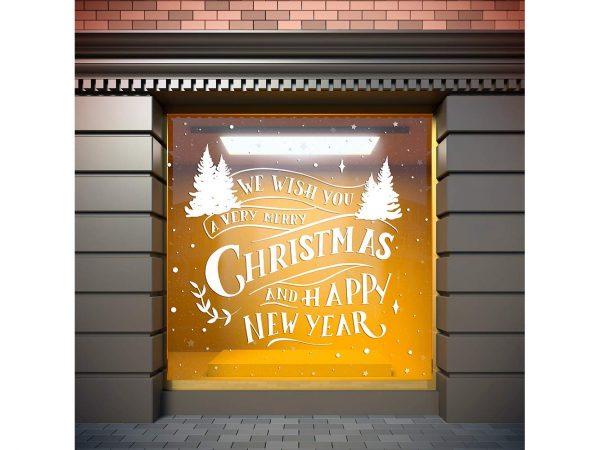 Vinilo Navidad Etiqueta We Wish Merry Christmas | Carteles XXL - Impresión carteleria publicitaria