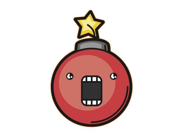 Vinilo Pegatina Coche Bomba Roja Explosión | Carteles XXL - Impresión carteleria publicitaria
