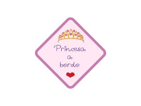 Vinilo Pegatina Coche Princesa a Bordo | Carteles XXL - Impresión carteleria publicitaria