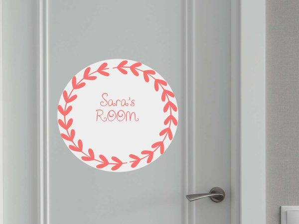 Vinilo Puerta Corona Espigas Personalizado | Carteles XXL - Impresión carteleria publicitaria