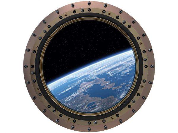 Vinilo Decorativo Puerta Vistas Planeta | Carteles XXL - Impresión carteleria publicitaria