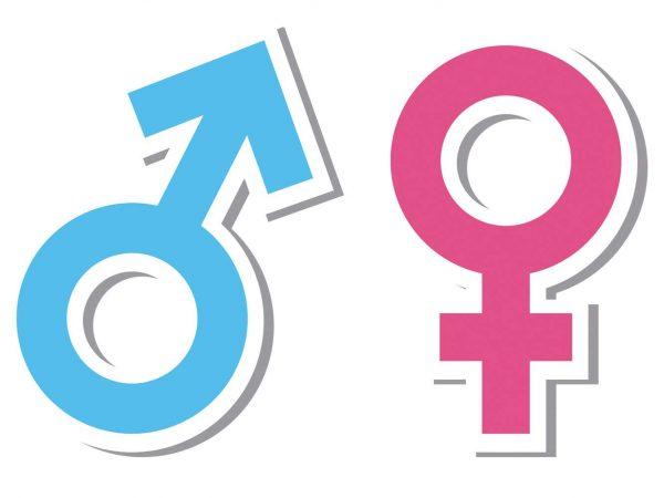 Vinilo Puerta WC Signos Masculino y Femenino | Carteles XXL - Impresión carteleria publicitaria