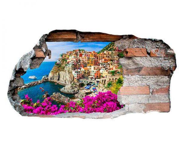 Vinilo 3D Manarola Italia | Carteles XXL - Impresión carteleria publicitaria