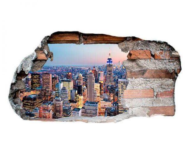 Vinilo 3D New York Anochecer | Carteles XXL - Impresión carteleria publicitaria