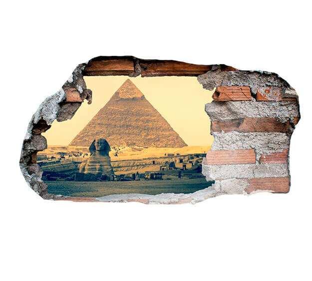 Vinilo 3D Pirámide Egipto   Carteles XXL - Impresión carteleria publicitaria