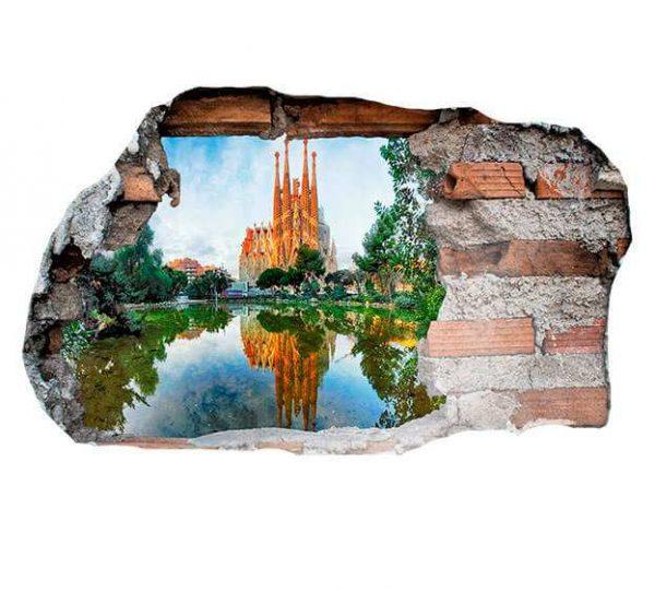 Vinilo 3D Barcelona | Carteles XXL - Impresión carteleria publicitaria