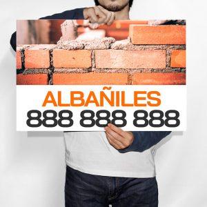 Cartel Albañiles
