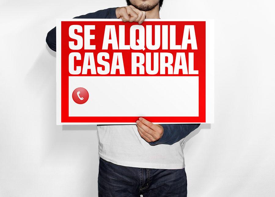 Cartel Se Alquila Casa Rural