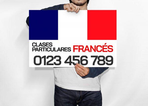 Cartel Clases Particulares Francés