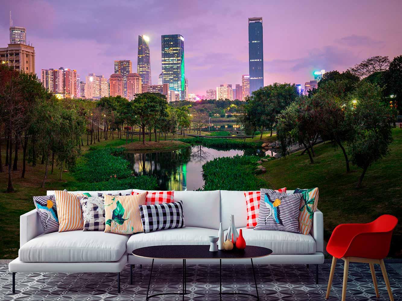 Fotomural Central Park de Noche   Carteles XXL - Impresión carteleria publicitaria