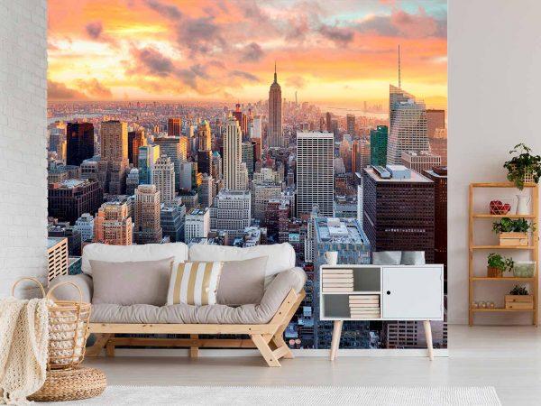Fotomural Manhattan Atardecer | Carteles XXL - Impresión carteleria publicitaria
