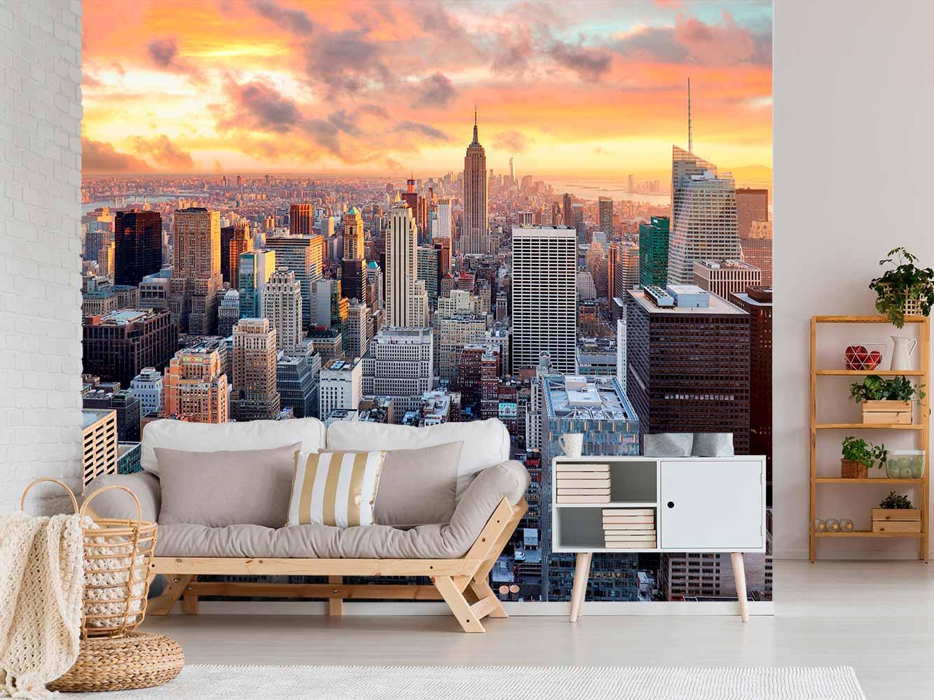 Fotomural Manhattan Atardecer
