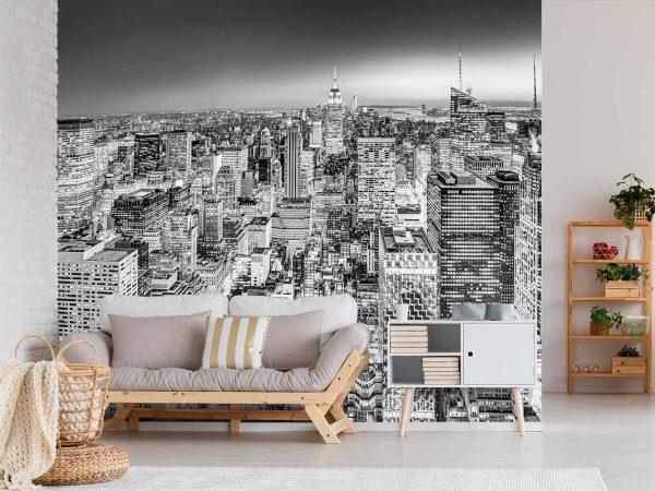 Fotomural Manhattan Blanco y Negro | Carteles XXL - Impresión carteleria publicitaria