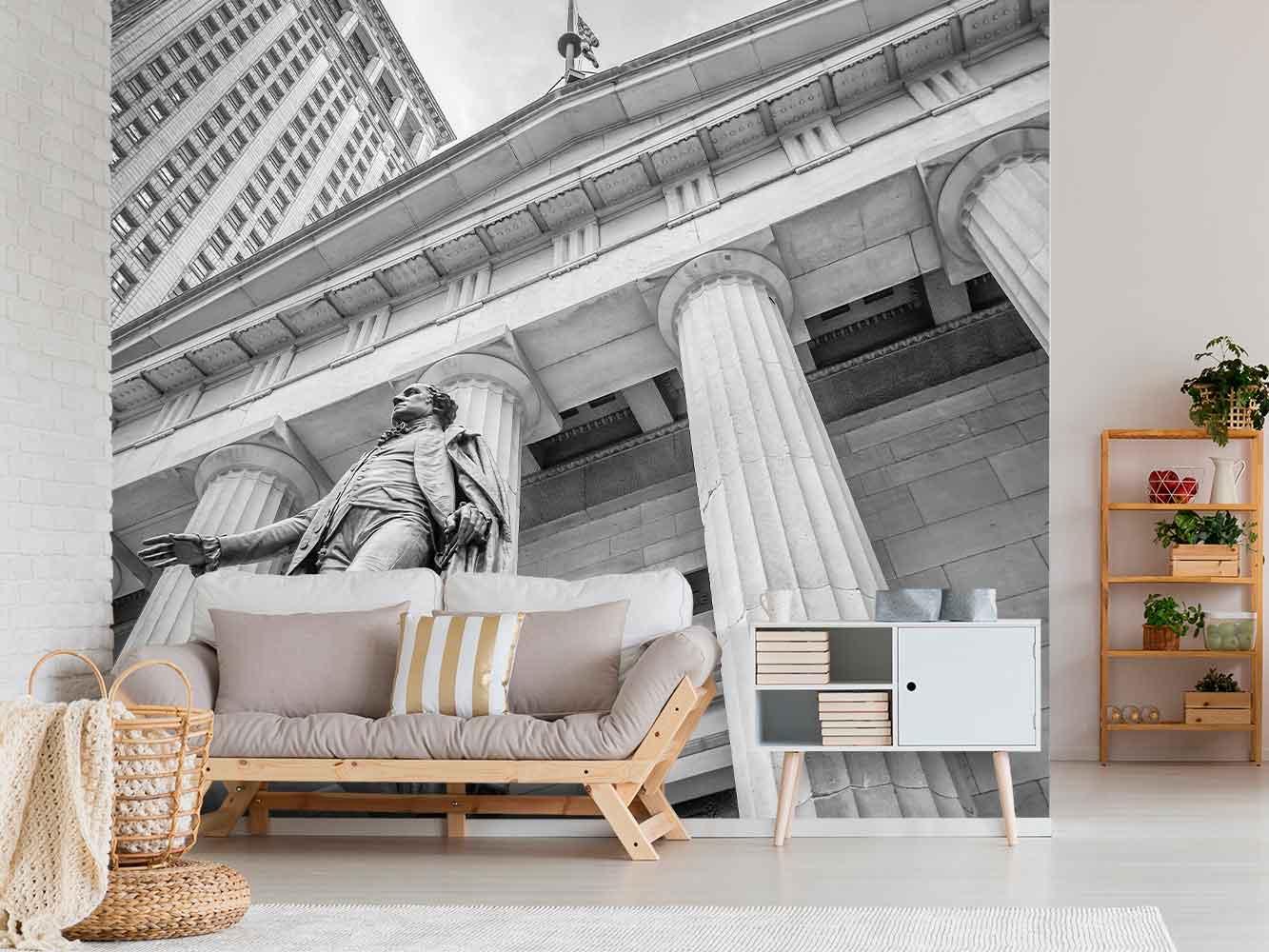 Fotomural Wall Street Blanco y Negro | Carteles XXL - Impresión carteleria publicitaria