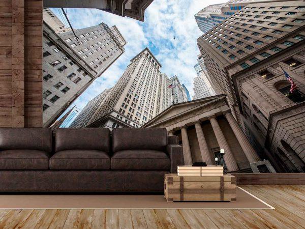 Fotomural Wall Street de Día | Carteles XXL - Impresión carteleria publicitaria