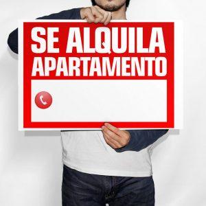 Cartel Se Alquila Apartamento
