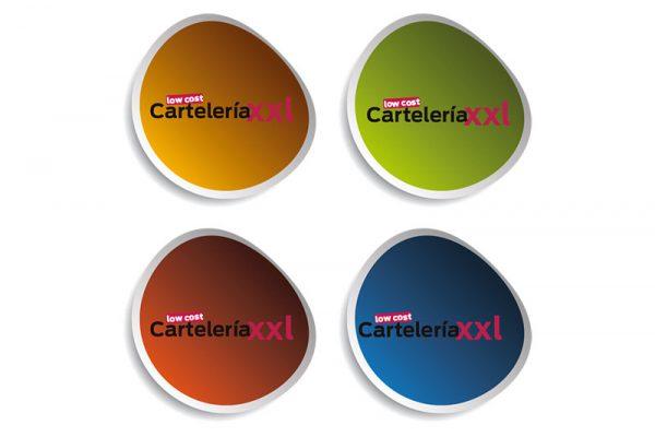 Adhesivos Redondos | Carteles XXL - Impresión carteleria publicitaria